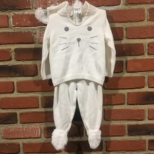 NWOT White Bunny Outfit sz 12 months